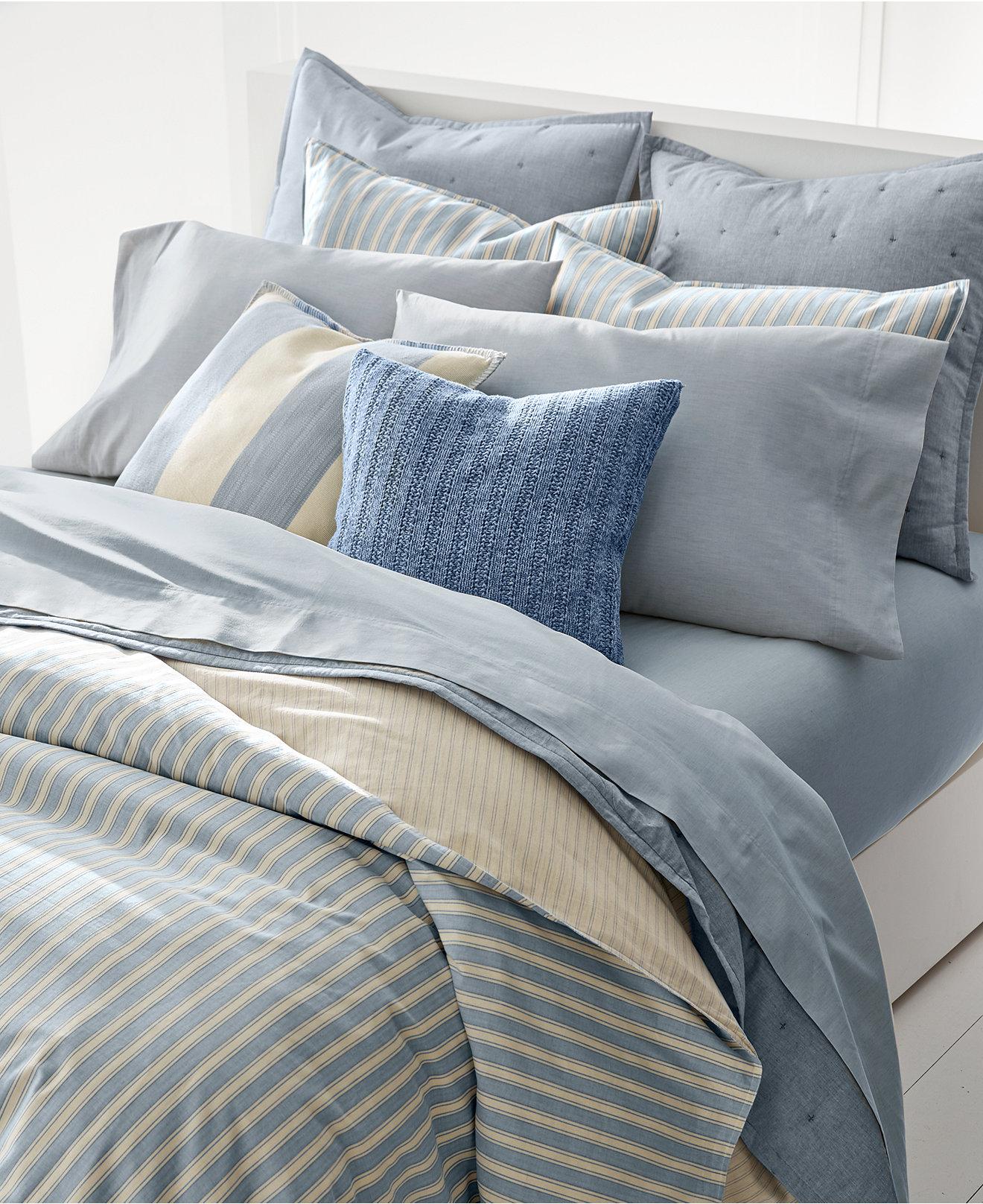 duvet covers  macy's - lauren ralph lauren graydon bold stripe duvet covers