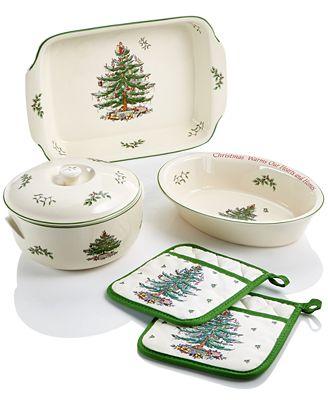 Spode Bakeware Christmas Tree Collection