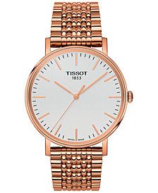 Tissot Unisex Swiss Everytime Rose Gold-Tone Stainless Steel Bracelet Watch 38mm
