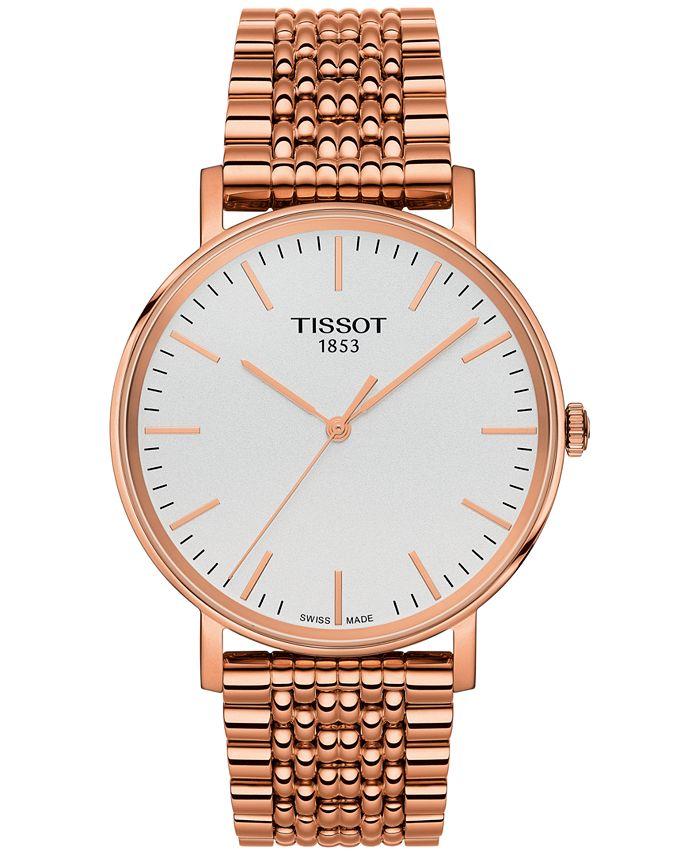 Tissot - Unisex Swiss Everytime Rose Gold-Tone Stainless Steel Bracelet Watch 38mm