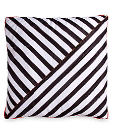 "Scribble Stripe 26"" Square Decorative Pillow"