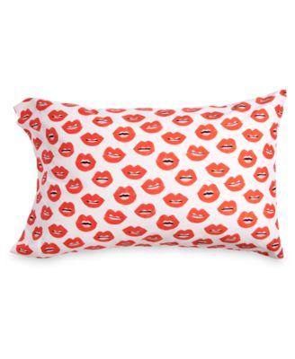 Lips-Print Standard Pillowcase