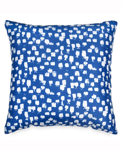 Scribble brushstroke dot 18 square decorative pillow bed in a bag main picture colourmoves