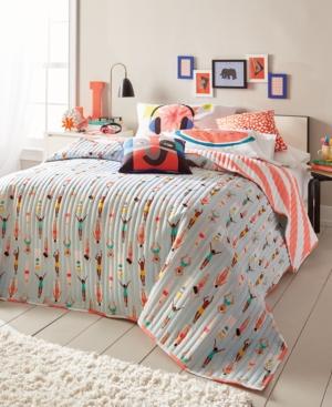 Scribble Reversible Swimmer FullQueen Quilt Bedding