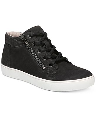 Motley Leather Lace Up Outside Zip Sneakers