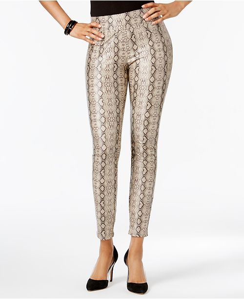 7cee523745acf Hue Women's Python-Embossed Faux-Leather Leggings & Reviews ...