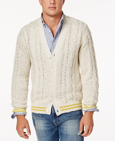 Tommy Hilfiger Men's Cable-Knit Cardigan