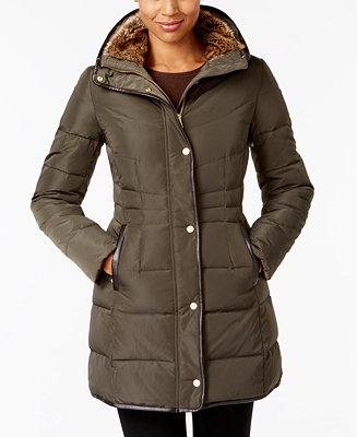 Cole Haan Signature Faux Fur Lined Puffer Coat Coats