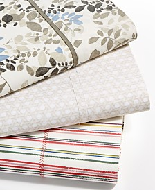 Lauren Ralph Lauren Cotton Percale Printed Sheet Collection