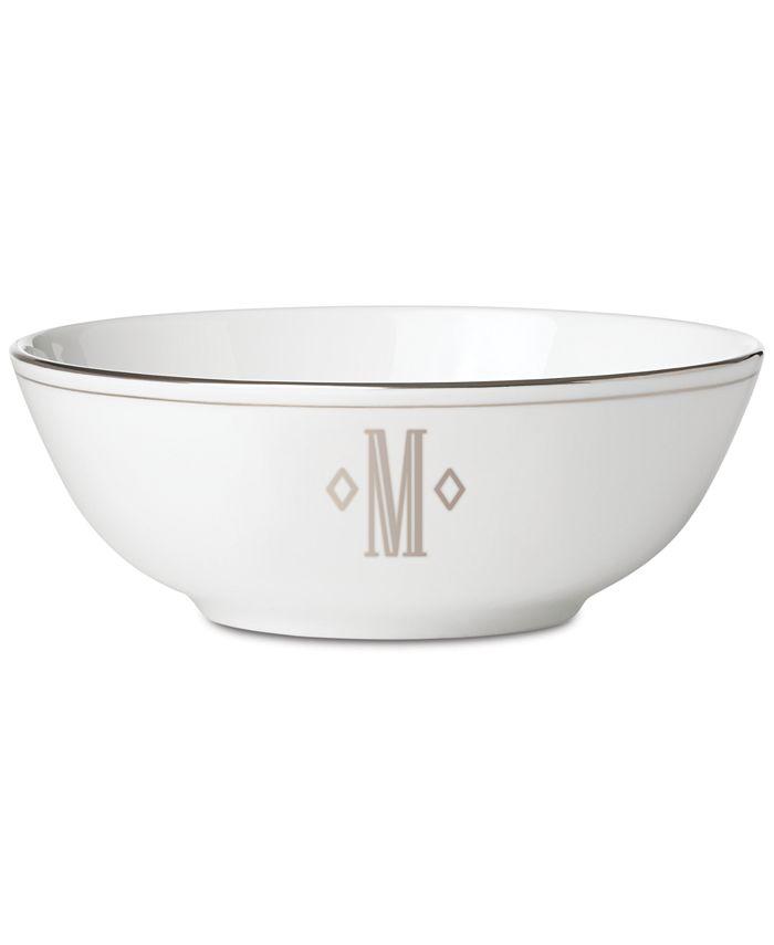 Lenox - Federal Platinum Monogram Block Place Setting Bowl