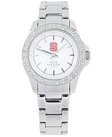 Jack Mason Women's North Carolina State Wolfpack Glitz Sport Bracelet Watch