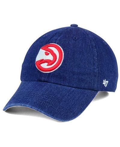 '47 Brand Atlanta Hawks All Denim CLEAN UP Cap