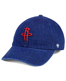 '47 Brand Houston Rockets All Denim CLEAN UP Cap