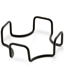 Square Black Iron Coaster Holder