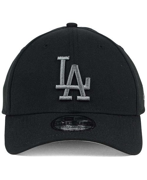 ee403651e17d6 ... New Era Los Angeles Dodgers Black and Charcoal Classic 39THIRTY Cap ...