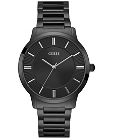 GUESS Men's Black Stainless Steel Bracelet Watch 44mm