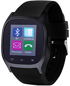 iTouch Unisex Black Rubber Strap Smart Watch 46x45mm ITC3360BK590-362