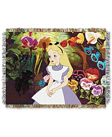 "Disney Alice in Wonderland ""Alice in the Garden"" Throw"