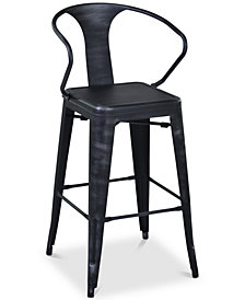 "Berkley 30"" Barstool in Industrial Grey Steel finish"