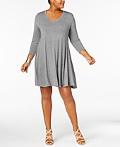 Gray Plus Size Dresses - Macy\'s