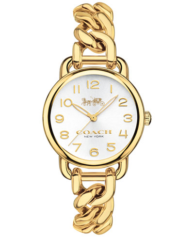 coach women 39 s delancey gold tone stainless steel chain
