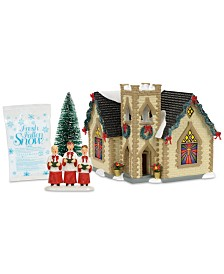Department 56 Snow Village Golden Cross Church Box Set