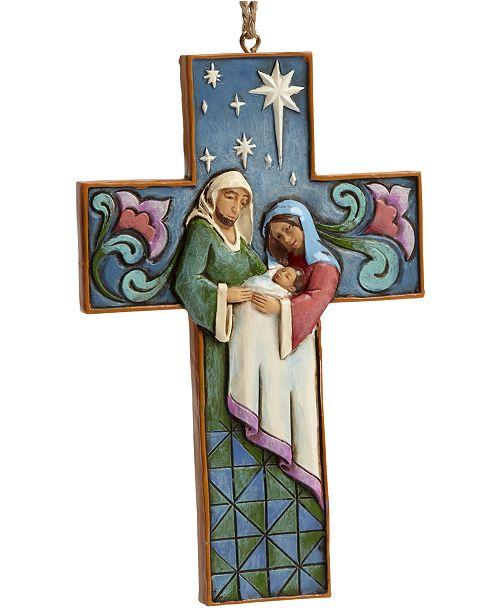 Enesco Jim Shore Cross-Shaped Holy Family Hanging Ornament