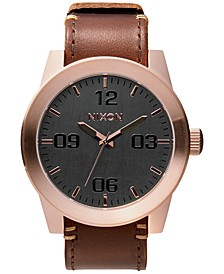 Men's Corporal Leather Strap Watch 48mm A243
