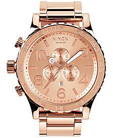 Nixon Men's 51-30 Chronograph Stainless Steel Bracelet Watch 51mm A083