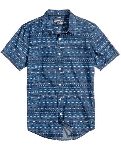 American Rag Men's Geometric Stripe Shirt, Created for Macy's
