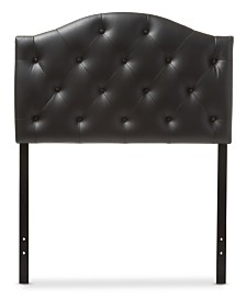CLOSEOUT! Myra Faux Leather Upholstered Twin Headboard, Quick Ship