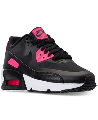 Nike Air Max 90 Ultra 2.0 Girls Running Shoes Red bL7782Y