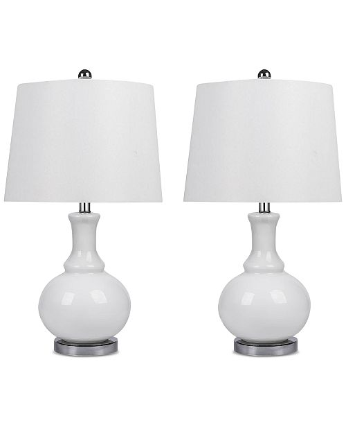 Abbyson Living Abbyson Set of 2 Claire Glass Table Lamps