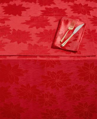 "Winter Joy Red 70"" Round Tablecloth"