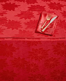 "CLOSEOUT! Winter Joy Red 70"" Round Tablecloth"