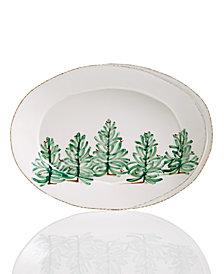 Vietri Lastra Holiday Small Oval Platter