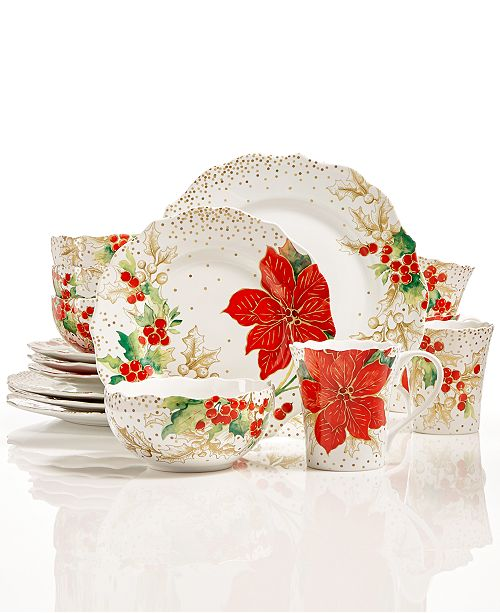 222 Fifth Winter Confetti Dinnerware Collection Reviews Home