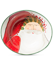 Vietri Old St. Nick Deep Oval Bowl