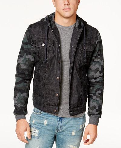 American Rag Men's Camo Trucker Jacket, Created for Macy's