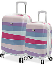 CLOSEOUT! Steve Madden Stripes Hardside Expandable Luggage Collection