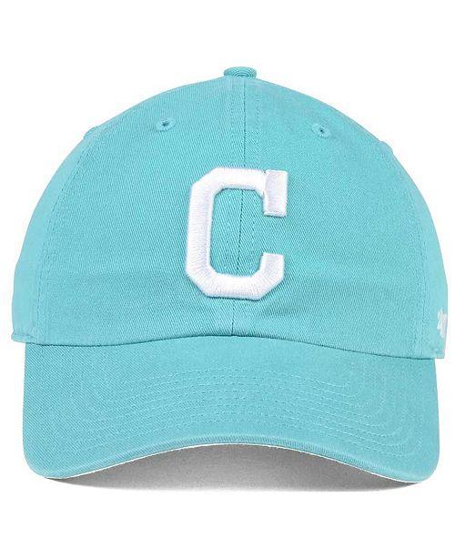 6ae6cc90188 ... greece 47 brand cleveland indians lagoon clean up cap sports fan shop  by lids men macys