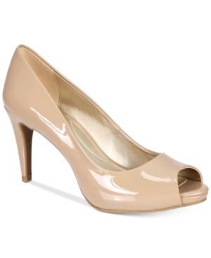 Rainaa Women's Peep Toe Platform Pump Women's Shoes