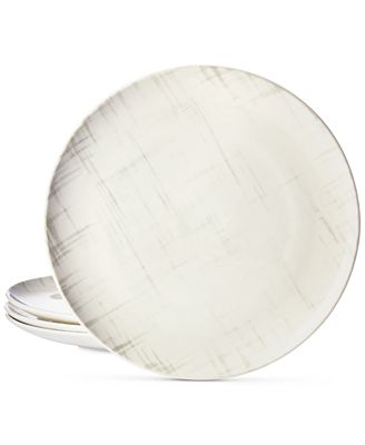 Martha Stewart Collection Harvest 4-Pc. Crosshatch Dinner Plate Set, Created for Macy's