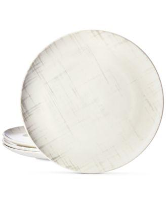 Martha Stewart Collection Harvest 4 Pc. Crosshatch Dinner Plate Set,  Created For Macyu0027s