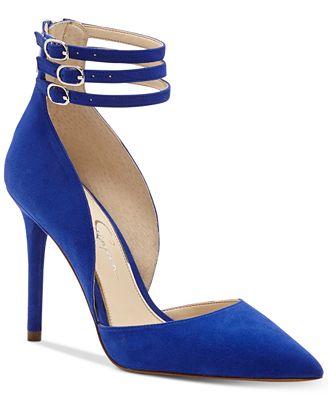 Jessica Simpson Linnee Triple Ankle-Strap Dress Heels