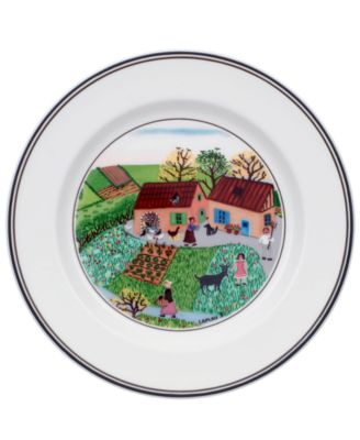 Dinnerware, Design Naif Bread and Butter Plate Family Farm