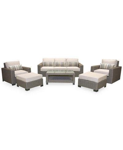 Del Mar Outdoor Seating Collection, with Sunbrella® Cushions, Created for Macy's
