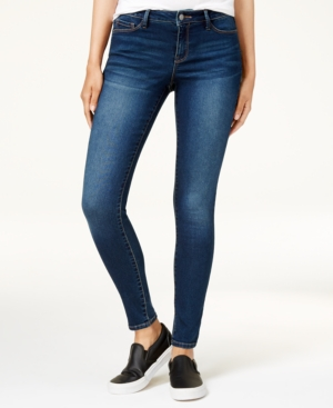 Black Daisy Juniors' Billie Skinny Ankle Jeans