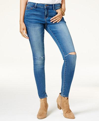 Black Daisy Juniors' Billie Ripped Skinny Jeans