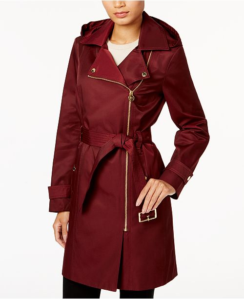 Michael Kors Petite Waterproof Trench Coat